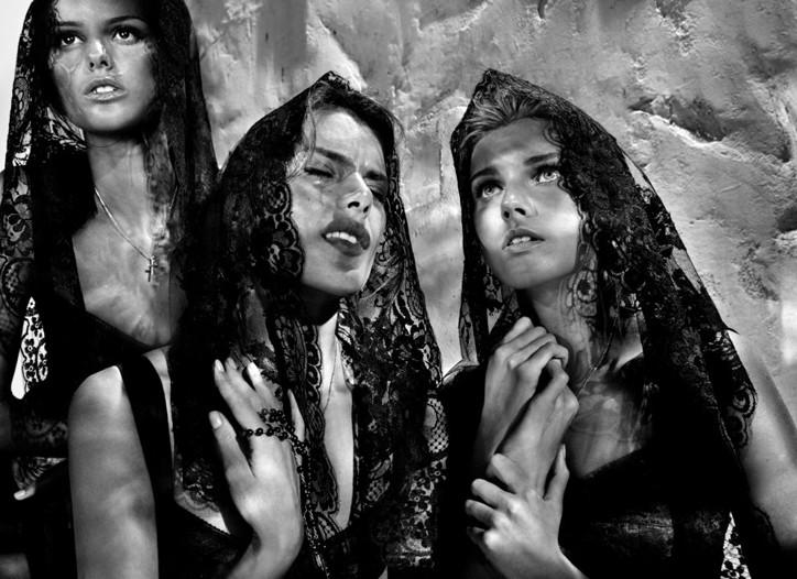 A Dolce & Gabbana ad visual shot by Steven Klein.