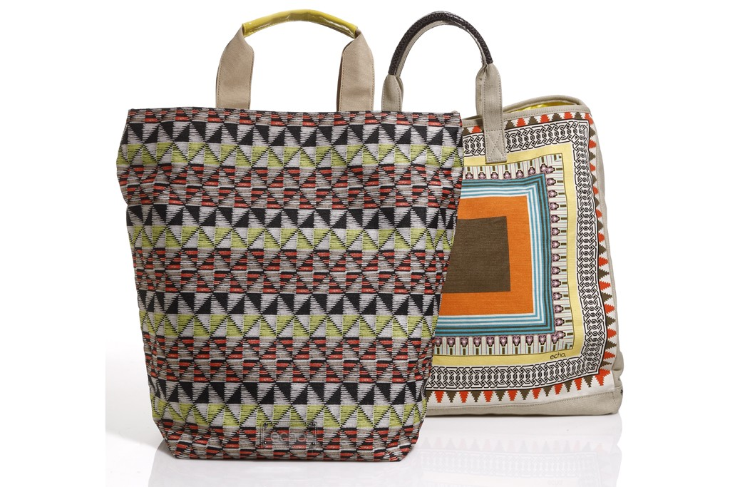 Echo tote bag and handbag.