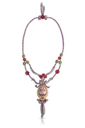 Fabergé's Train des Fleurs Egg necklace.