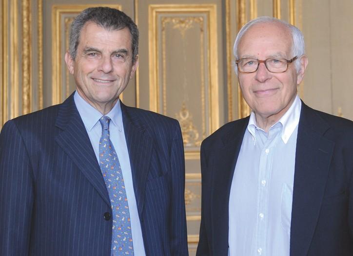 Ferruccio Ferragamo and Gianni Bulgari