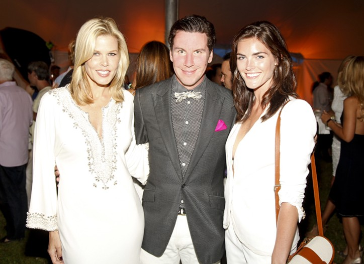 Co-hosts Mary Alice Stephenson, Peter Davis and Hilary Rhoda at the 12th Annual Love Heals at Luna Farm.