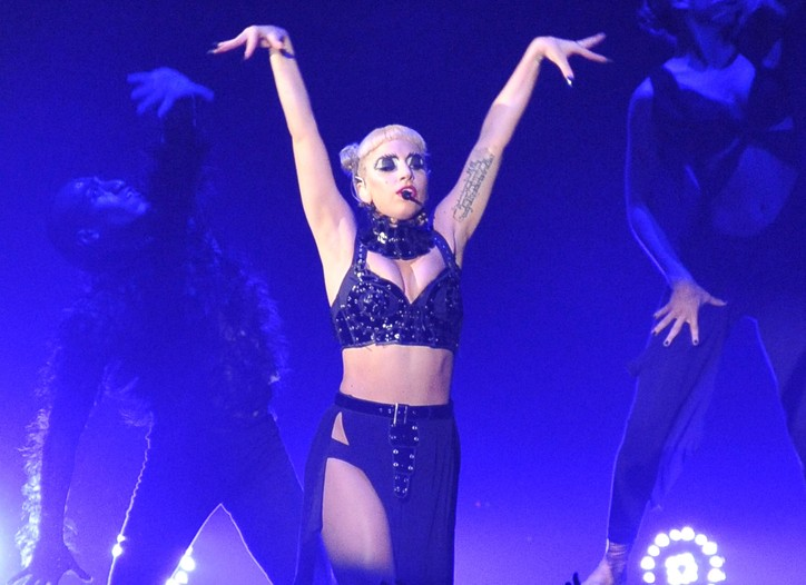 Lady Gaga performs in Chiba, Japan in 2011.