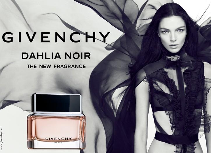 The ad for Givenchy's Dahlia Noir.