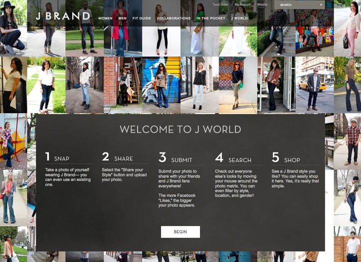 J World on jbrandjeans.com.
