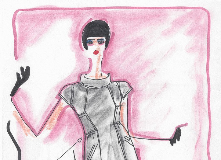 Sketches from Karl Lagerfeld's Macy's line.