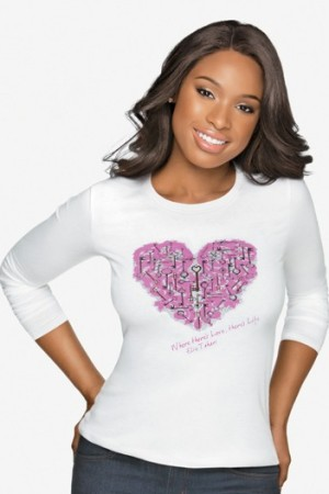 Jennifer Hudson in the Key to the Cure top.