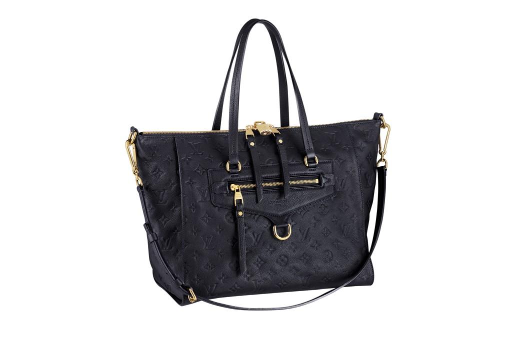 Louis Vuitton's Artsy bag in black python.