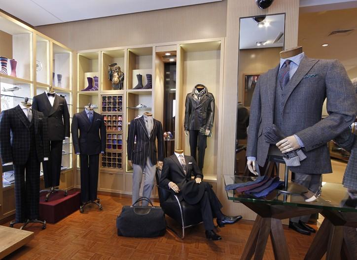 The Paul Stuart shop.