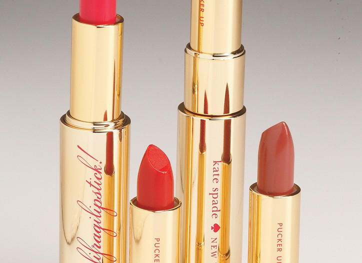 Kate Spade's lipsticks by Poppy King.