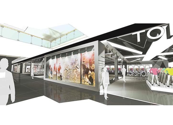 A rendering of Topshop's Las Vegas flagship.
