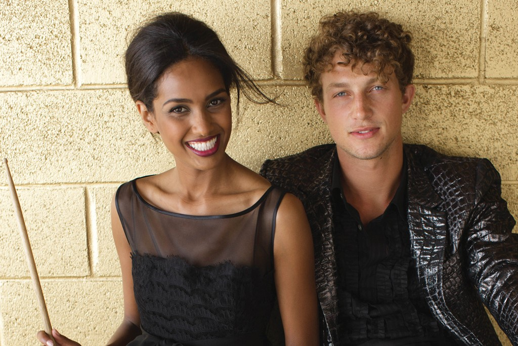 Models in Trina Turk.