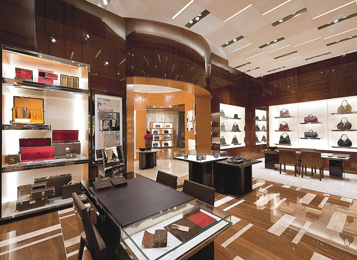 The Louis Vuitton store in the Bellagio.