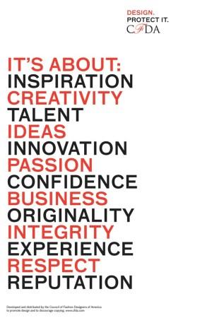 The CFDA's Design Manifesto.