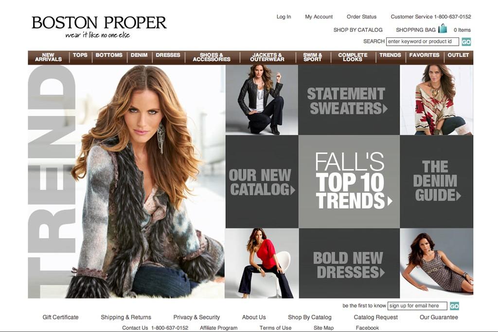 The Boston Proper website.