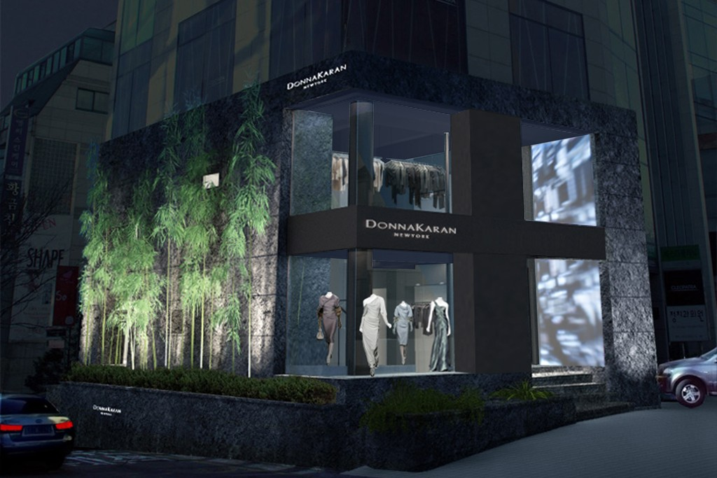 An exterior view of the Donna Karan New York flagship in Seoul