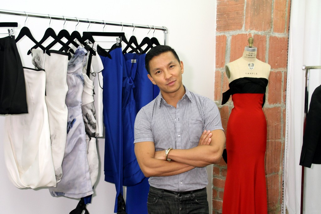 Prabal Gurung in his shop at the CFDA Fashion Incubator.