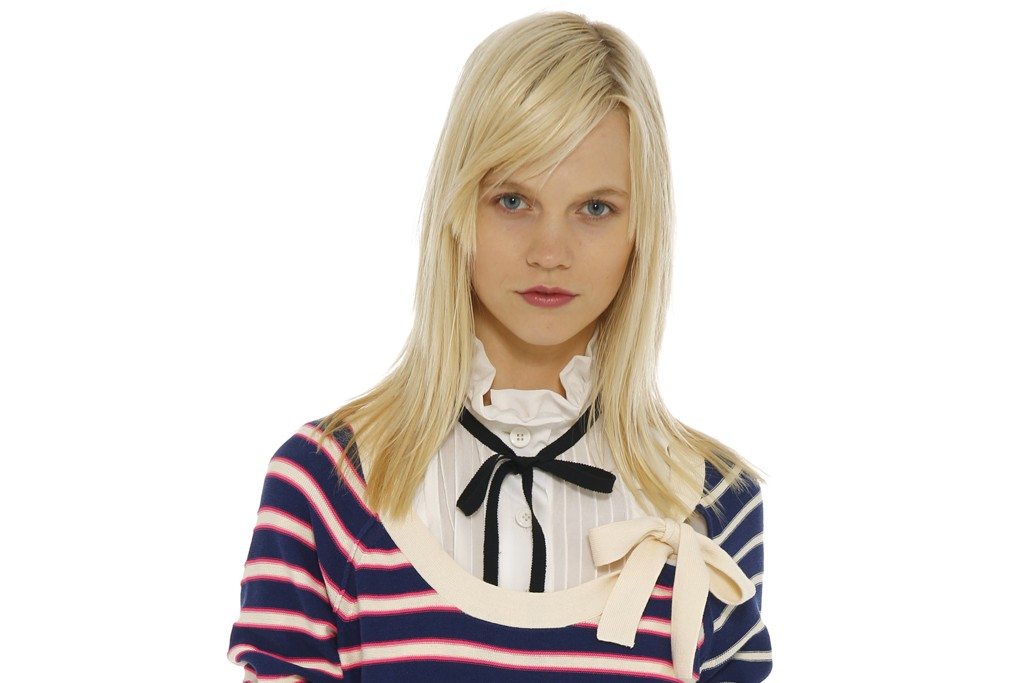 Sonia by Sonia Rykiel's top and sweater dress. Mulberry belt.