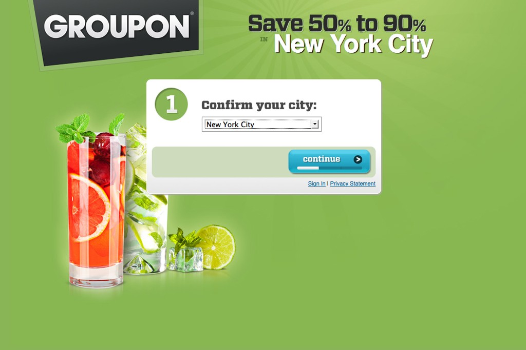 Coupon giant Groupon offers an array of daily deals.