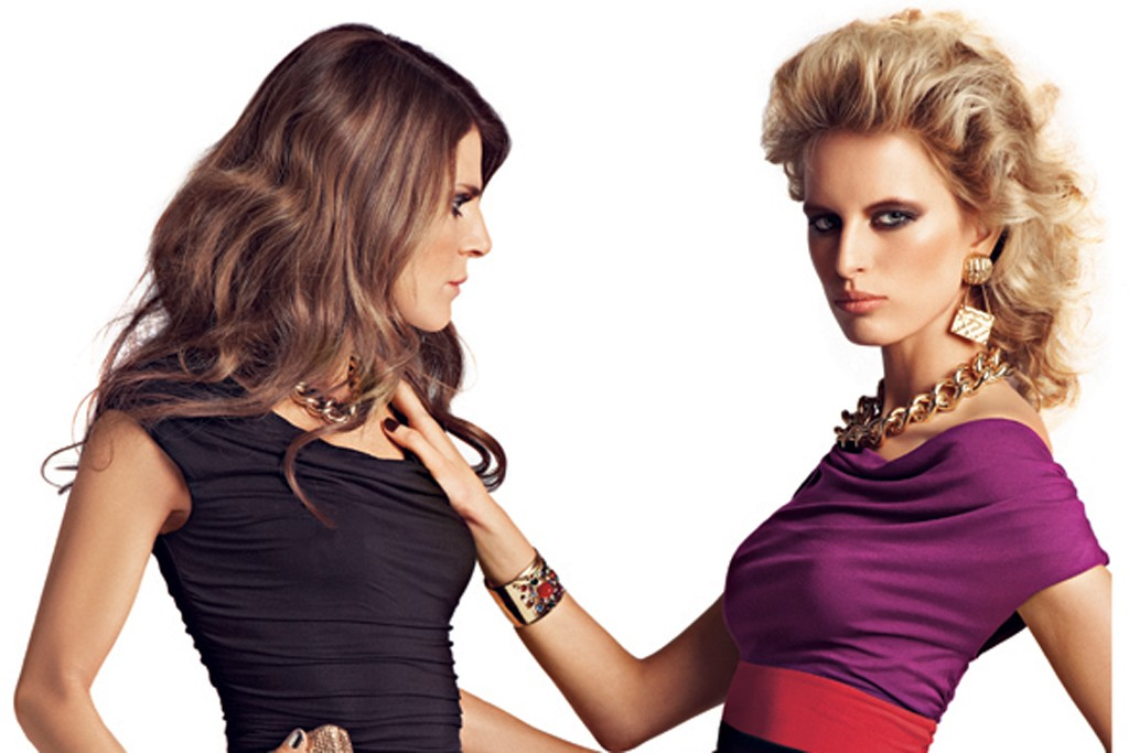 Looks from the fall INC campaign with Anna Dello Russo and Karolina Kurkova.