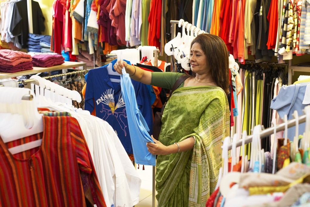 A shopper in India.