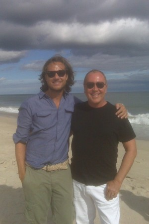 Michael Kors and his husband Lance Le Pere in Southampton