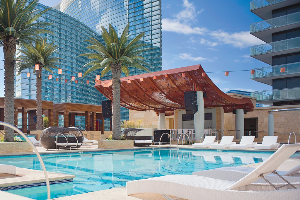 The Cosmopolitan's Pool District.