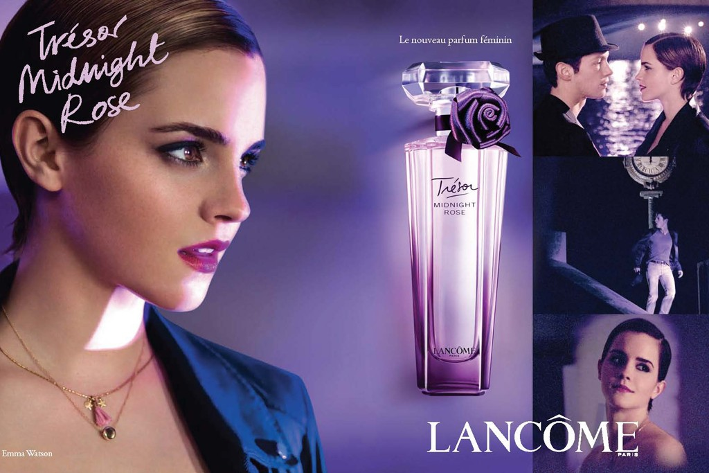Lancôme's Trésor Midnight Rose campaign featuring Emma Watson