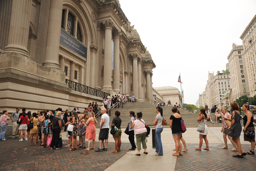 The scene at The Metropolitan Museum of Art.