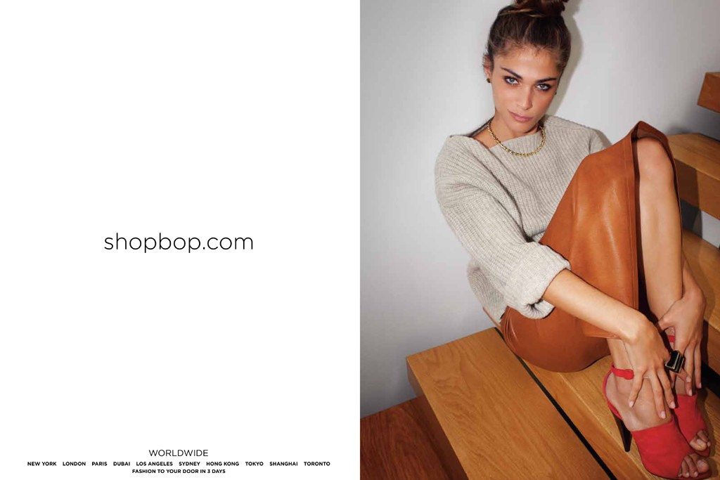 Elisa Sednaoui in Shopbop.com's advertising campaign.