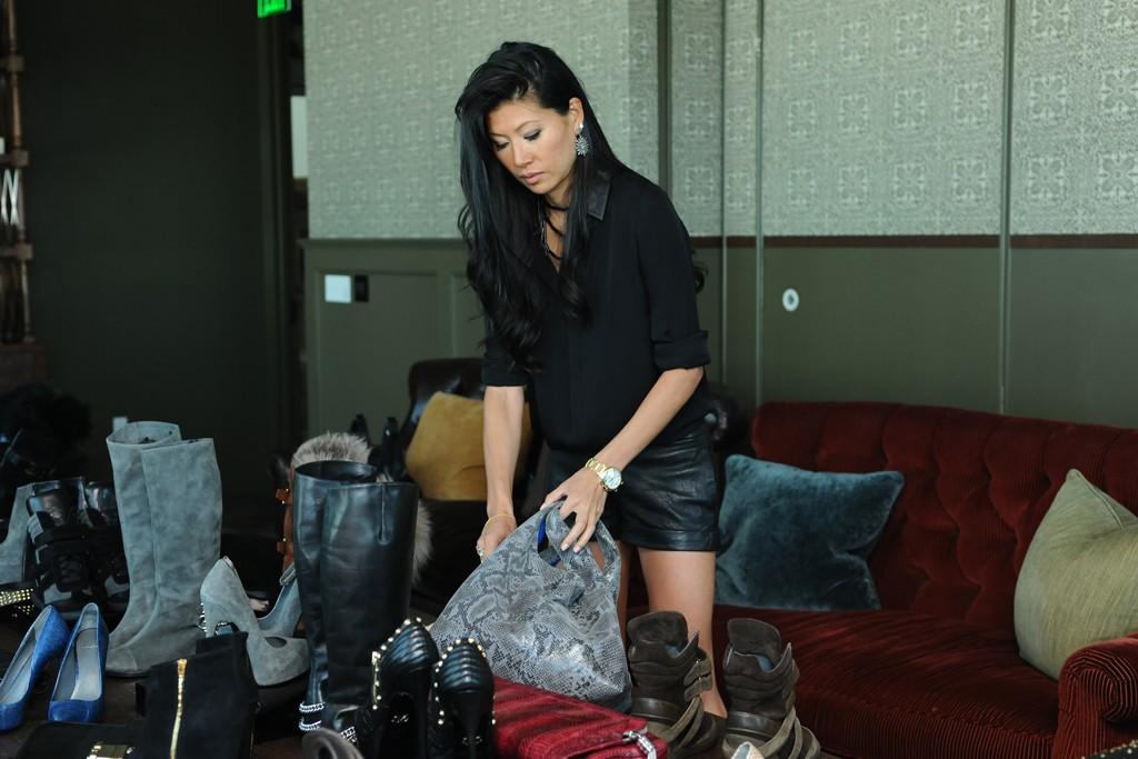 Monika Chiang and her wares.