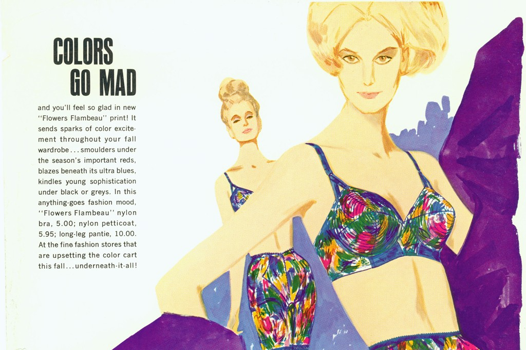 Colorful women's lingerie from 1963.