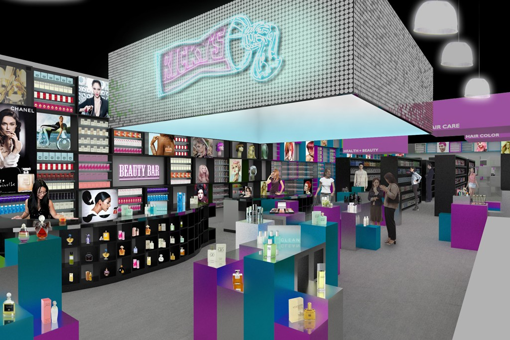 A rendering of Ricky's mall-based prototype store.