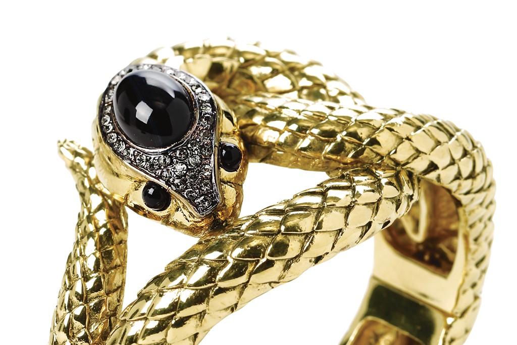 Roberto Cavalli Metal and amber bracelet Net-a-porter $905