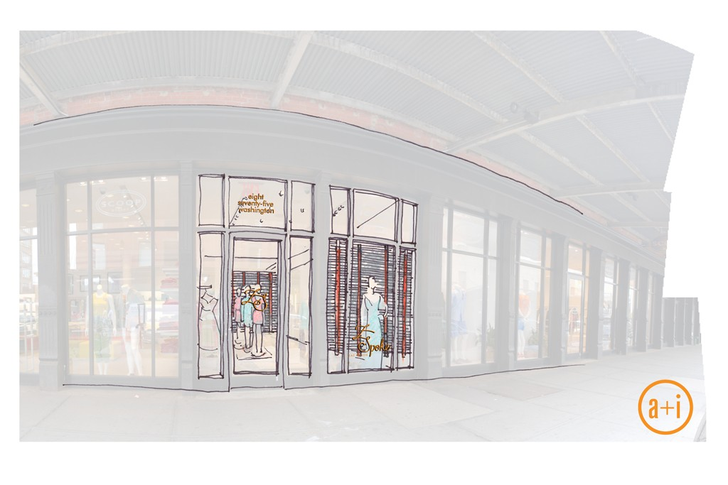 A rendering of the Z Spoke store in the Meatpacking District