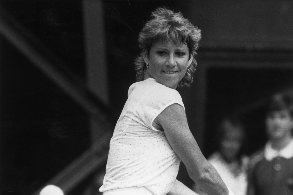 Chris Evert in Ellesse during her playing days.