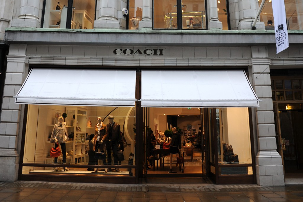 A view of the Coach store on Bond Street store.