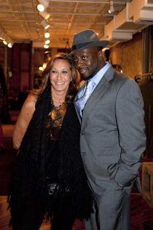 Donna Karan and Wyclef  Jean