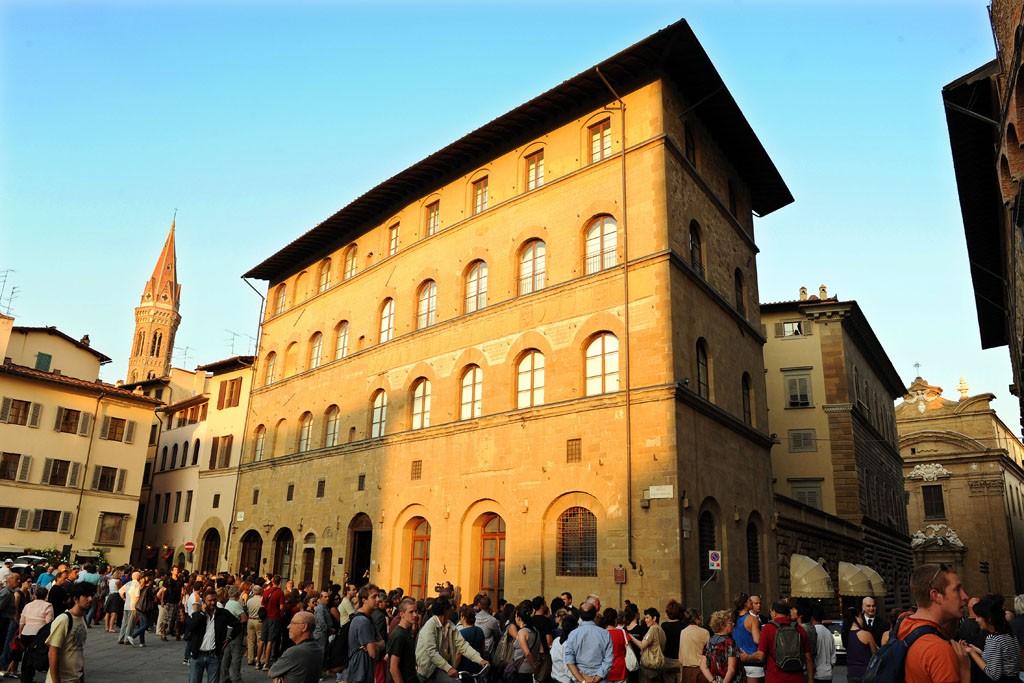 A view of the Gucci Museo inside Florence's Palazzo della Mercanzia at the Piazza Signoria.