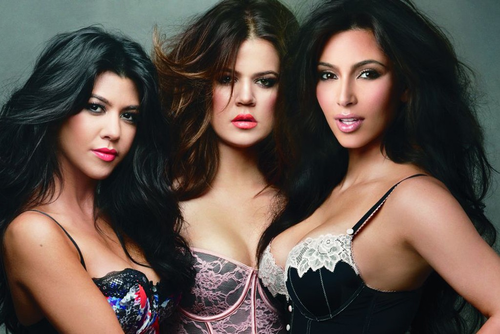 An ad visual from the Kardashian Kollection at Sears, shot by Annie Leibovitz.