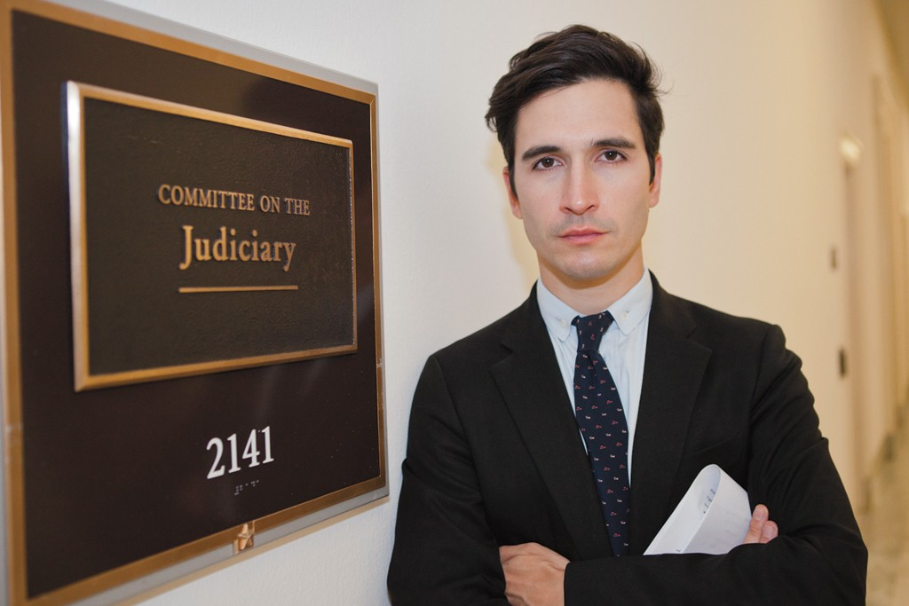 Lazaro Hernandez prior to testifying at a House hearing on the Design  Piracy Bill in July.
