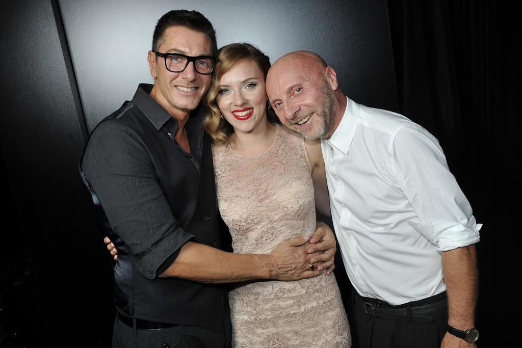 Stefano Gabbana, Scarlett Johansson and Domenico Dolce