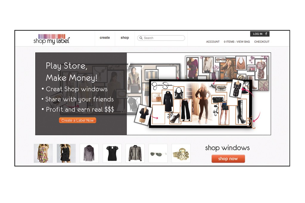 The homepage for Shop My Label.