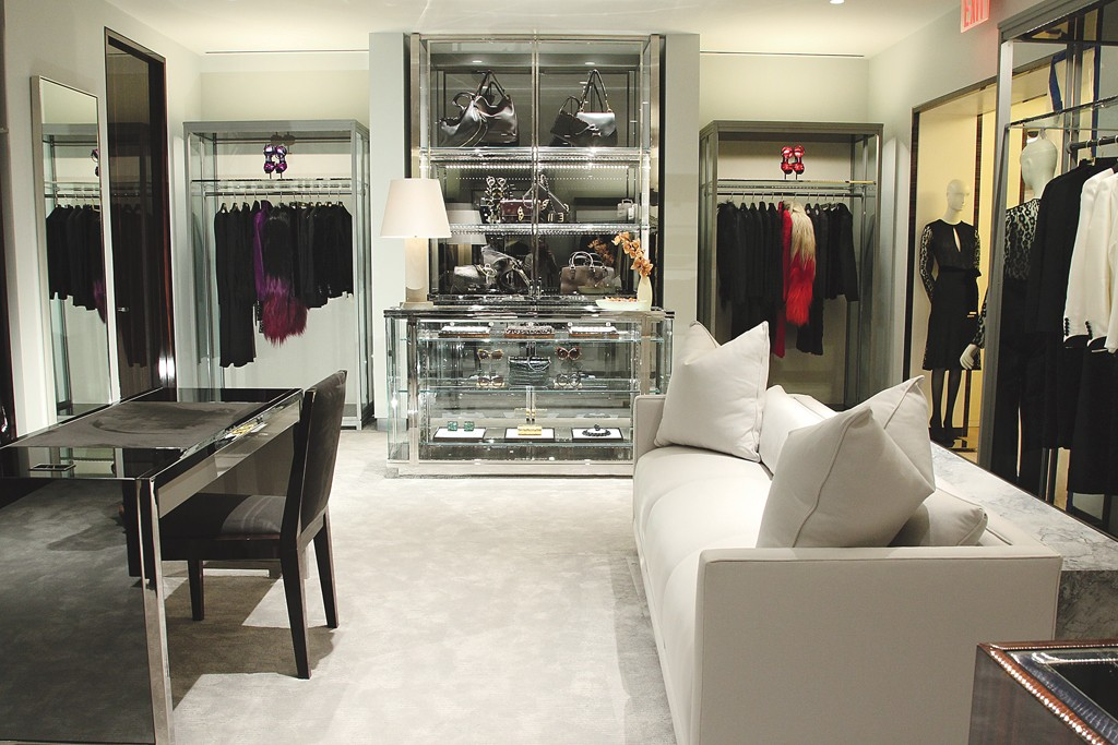 Tom Ford's woman's shop at Bergdorf Goodman.