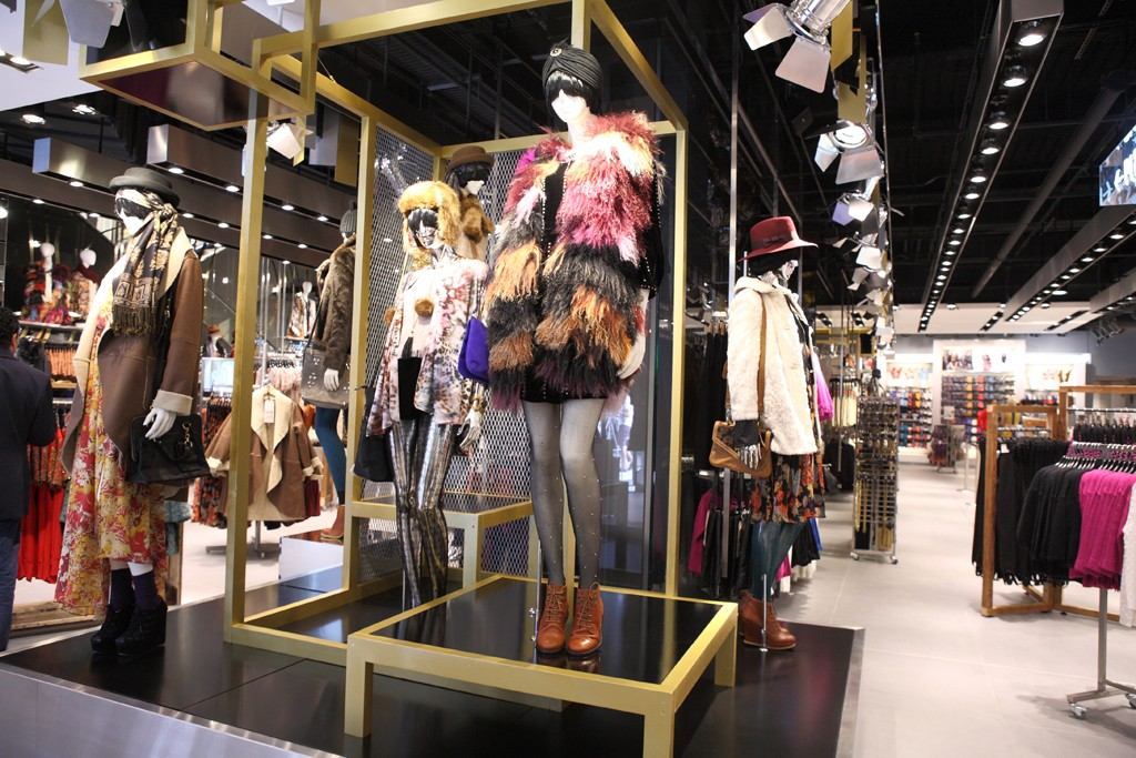 A view of the Topshop store in Chicago.