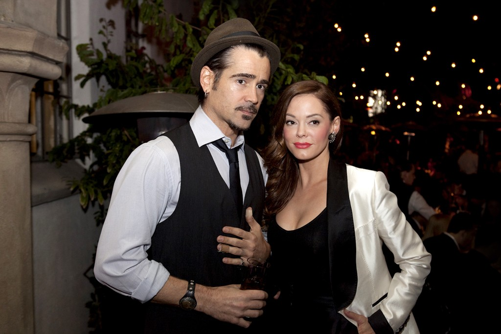 Colin Farrell and Rose McGowan