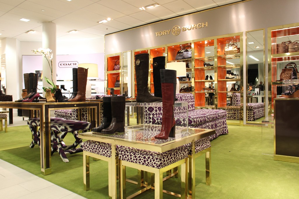A view of the shoe department at the Bloomingdale's store.