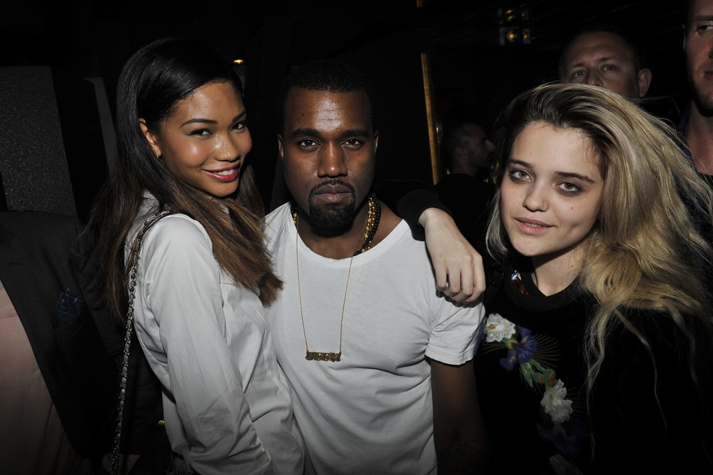 Chanel Iman, Kanye West and Sky Ferreira