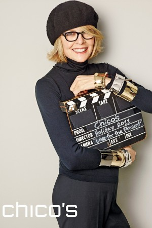 The Chico's campaign with Diane Keaton breaks in November magazines.
