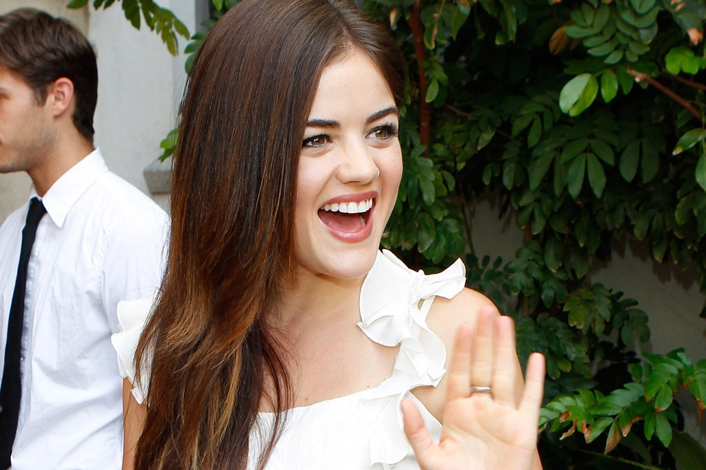 Lucy Hale in Dior.