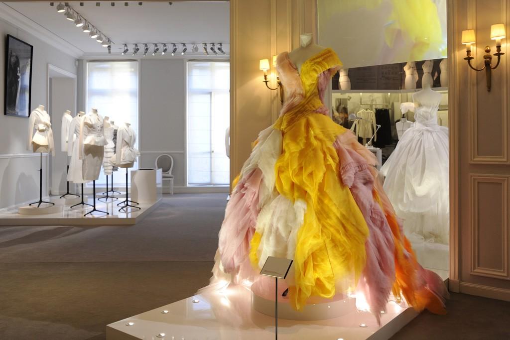 A view of Dior's Avenue Montaigne headquarters.